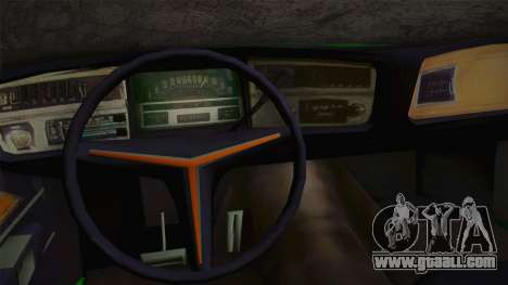 Buick Riviera 1972 Carbine Version for GTA San Andreas inner view