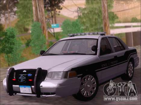 Ford Crown Victoria San Andreas State Trooper for GTA San Andreas left view