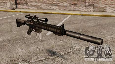 The SR-25 sniper rifle for GTA 4