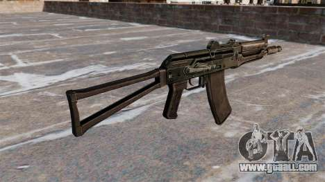 Automatic AKS74U Black for GTA 4 second screenshot