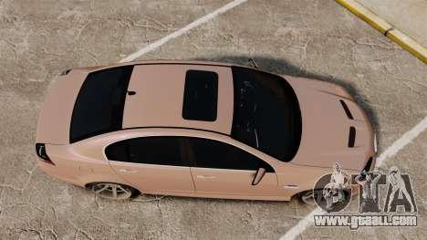 Pontiac G8 GXP [VE] 2009 for GTA 4 right view