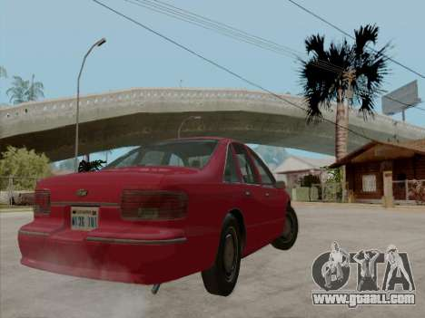 Chevrolet Caprice 1991 for GTA San Andreas bottom view
