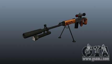 Dragunov sniper rifle A&K for GTA 4