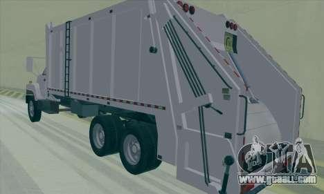 GMC C550 Topkick Trashmaster for GTA San Andreas right view