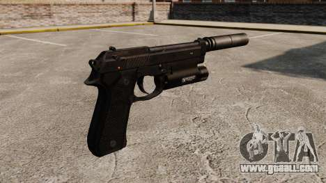 Beretta 92 semi-automatic pistol with silencer for GTA 4 second screenshot