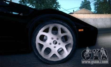 Lamborghini Diablo VT6.0 for GTA San Andreas inner view