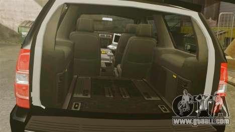 Chevrolet Tahoe Police [ELS] for GTA 4 inner view