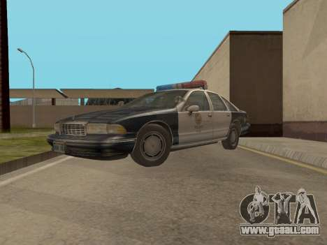 Chevrolet Caprice LAPD 1991 for GTA San Andreas