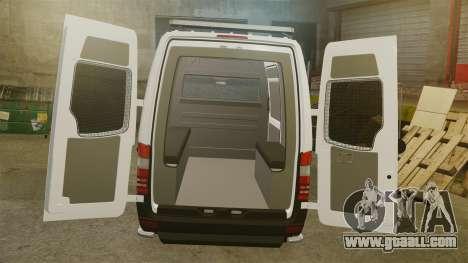 Mercedes-Benz Sprinter 2500 Prisoner Transport for GTA 4 side view
