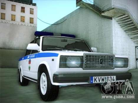 Lada 2107 Rendőrség for GTA San Andreas