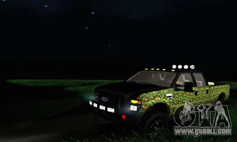 Ford F-250 Realtree Camo Lifted 2010 for GTA San Andreas
