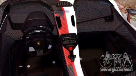 Lamborghini Aventador J 2012 Carbon for GTA 4 inner view