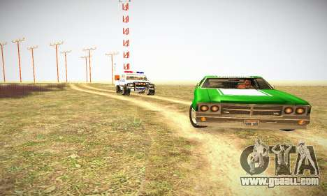 GTA IV Sabre Turbo for GTA San Andreas inner view