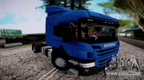 Scania P400 for GTA San Andreas back view