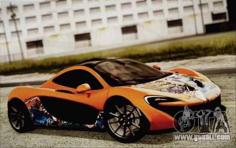 McLaren P1 2014 v2 for GTA San Andreas back view