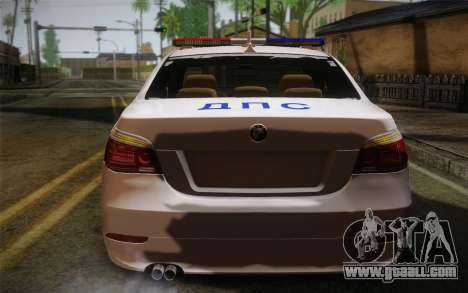 BMW 530xd DPS for GTA San Andreas back left view