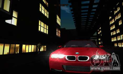 BMW E46 M3 CSL for GTA San Andreas inner view