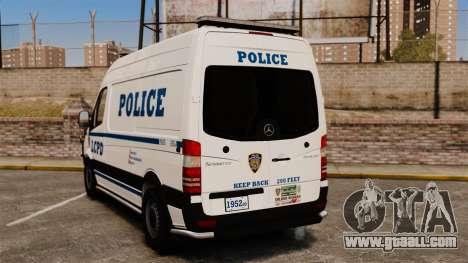 Mercedes-Benz Sprinter 2500 Prisoner Transport for GTA 4 back left view