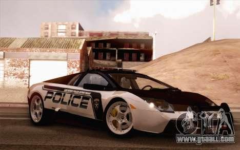 Lamborghini Murciélago Police 2005 for GTA San Andreas side view