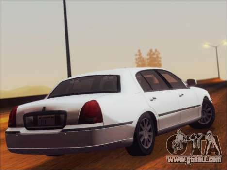 Lincoln Town Car 2010 for GTA San Andreas right view