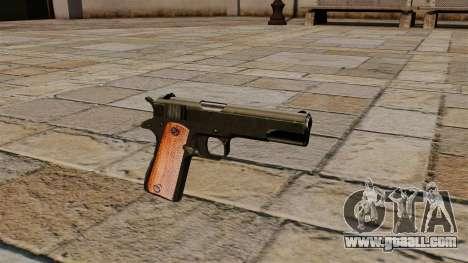 Gun Colt M1911 Black Edition for GTA 4