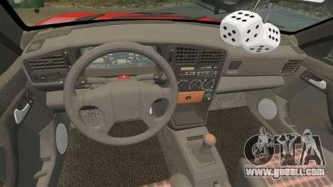 Volkswagen Passat B3 1995 for GTA 4 upper view