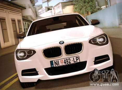 BMW M135i for GTA San Andreas back left view