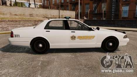 GTA V Police Vapid Cruiser Sheriff for GTA 4 left view