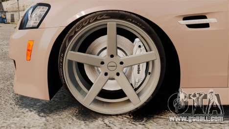 Pontiac G8 GXP [VE] 2009 for GTA 4 back view