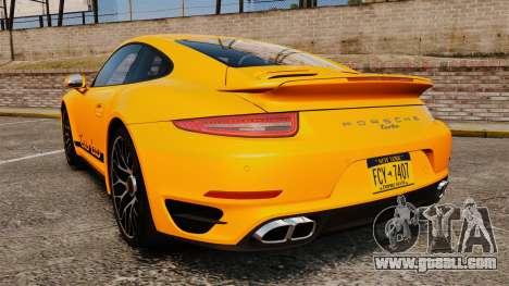Porsche 911 Turbo 2014 [EPM] Turbo Side Stripes for GTA 4 back left view