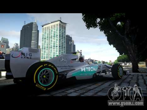 Mercedes F1 W04 for GTA 4 left view
