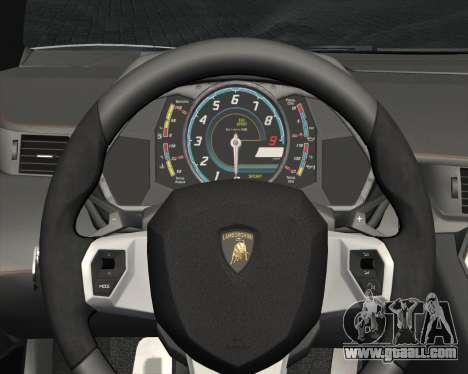 Lamborghini Aventador LP700-4 2012 RCPD V1.0 for GTA San Andreas bottom view