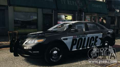Ford Taurus Police Interceptor 2010 for GTA 4 back left view