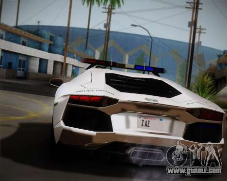 Lamborghini Aventador LP700-4 2012 RCPD V1.0 for GTA San Andreas back left view