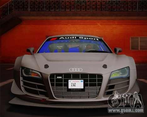 Audi R8 LMS Ultra v1.0.1 DR for GTA San Andreas inner view