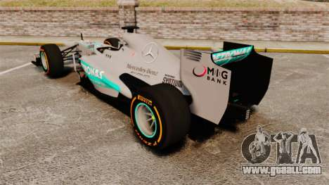 Mercedes AMG F1 W04 v3 for GTA 4 back left view