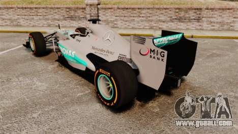 Mercedes AMG F1 W04 v3 for GTA 4 back left view