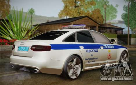 Audi RS6 Police for GTA San Andreas left view