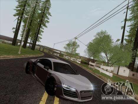 Audi R8 V10 Plus for GTA San Andreas inner view