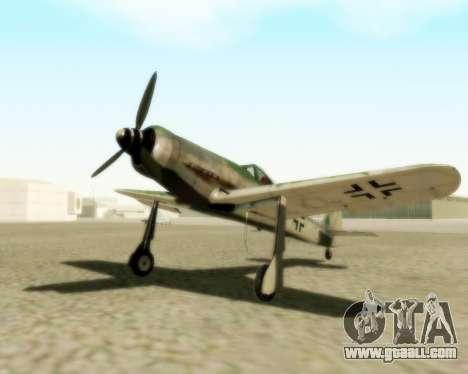 Focke-Wulf FW-190 D12 for GTA San Andreas