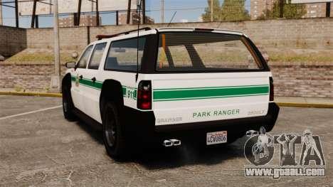 GTA V Declasse Granger Park Ranger for GTA 4 back left view