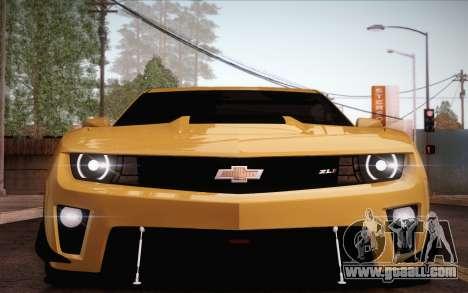 Chevrolet Camaro ZL1 for GTA San Andreas interior