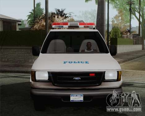 Ford F150 Police for GTA San Andreas back left view