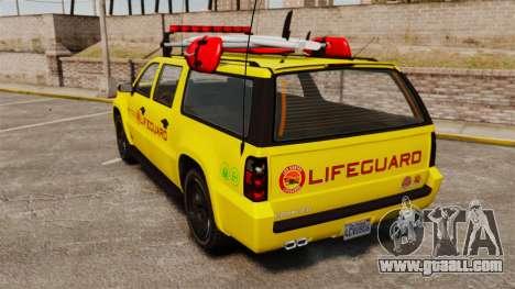 GTA V Declasse Granger 3500LX Lifeguard for GTA 4 back left view