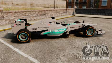 Mercedes AMG F1 W04 v3 for GTA 4 left view