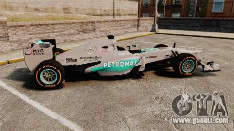 Mercedes AMG F1 W04 v3 for GTA 4 left view