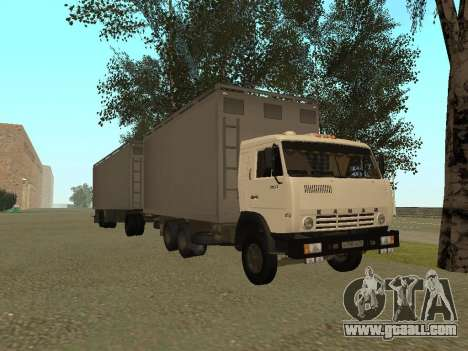 Trailer for Kamaz 54115 for GTA San Andreas right view