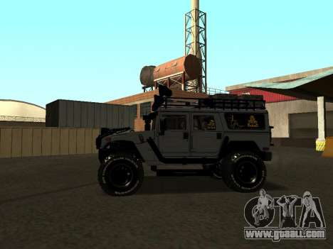 Hummer H1 Offroad for GTA San Andreas left view