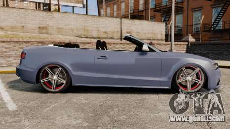 Audi S5 Convertible 2012 for GTA 4 left view