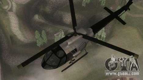 Police Maverick from GTA V for GTA San Andreas right view